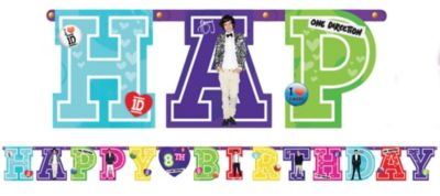 One Direction Birthday Banner 10 1/2ft