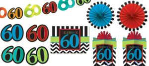 Celebrate 60th Birthday Room Decorating Kit 10pc
