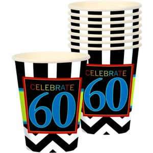 Celebrate 60th Birthday Cups 8ct