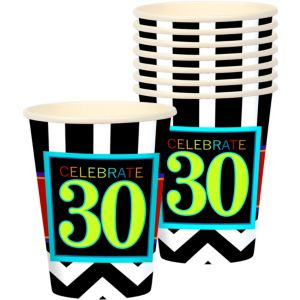 Celebrate 30th Birthday Cups 8ct