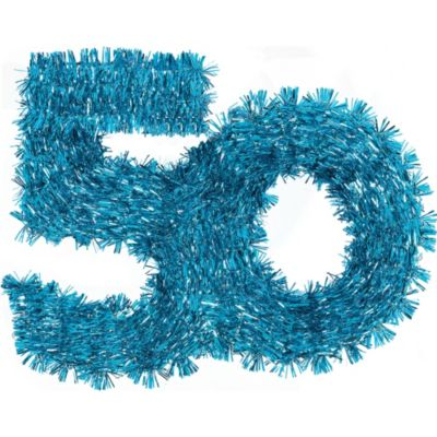 The Party Continues 50th Birthday Tinsel Hanging Decoration 11in
