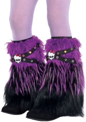 Child Purple Furry Monster High Leg Warmers