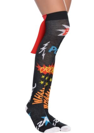 Superhero Cape Over-the-Knee Socks