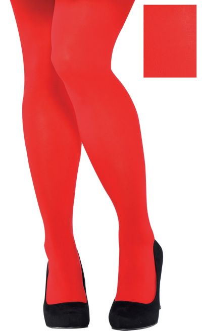 Adult Red Tights Plus Size