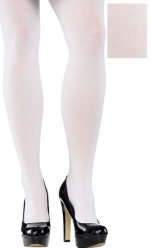 Adult White Tights Plus Size