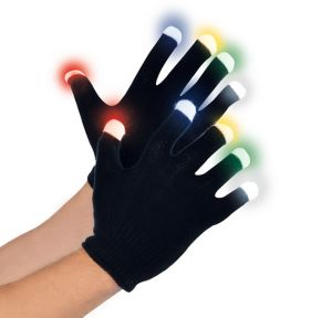 Light-Up Electric Party Glow Gloves