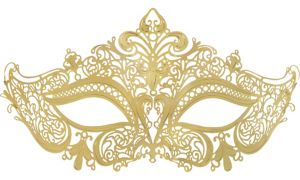 Gold Filigree Masquerade Mask