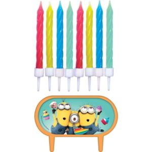 Despicable Me Birthday Candles 8ct