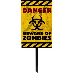 Danger Zombies Yard Sign