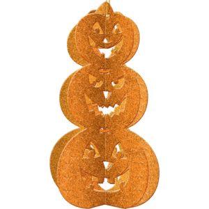 3D Glitter Pumpkin Stack