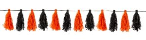 Black and Orange Tassel Garland