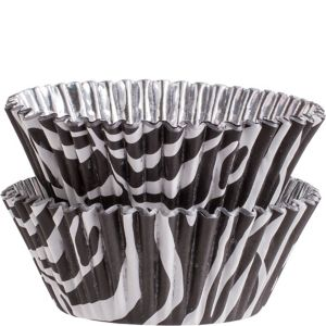 Zebra Foil Baking Cups 36ct