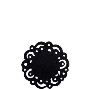 Black Swirl Round Paper Doilies 30ct