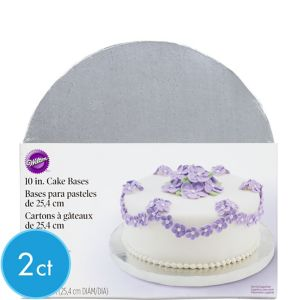 Silver Cake Bases 2ct