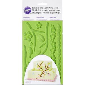 Leaves & Flowers Fondant Mold