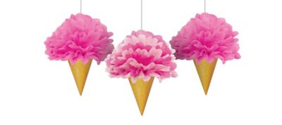 Sweet Stuff Ice Cream Fluffy Decorations 3ct