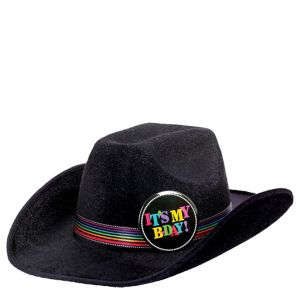 Happy Birthday Cowboy Hat - Rainbow Dot