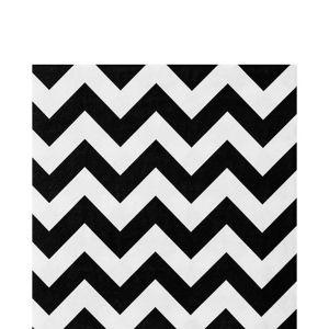 Black & White Chevron Lunch Napkins 36ct
