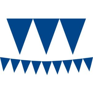 Royal Blue Pennant Banner