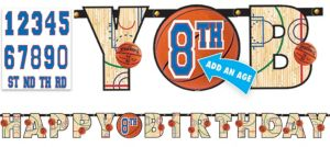 Spalding Basketball Birthday Banner Kit