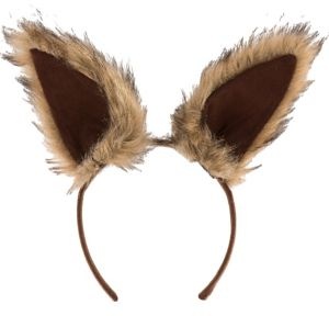Oversized Brown Squirrel Ears Deluxe