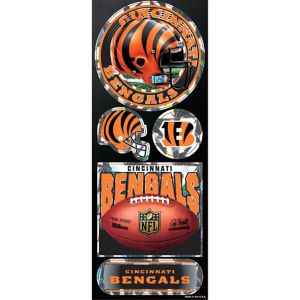 Prismatic Cincinnati Bengals Stickers 5ct