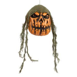Hanging Angry Jack-o'-Lantern Head
