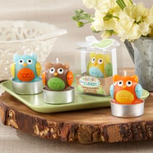 Whoo's the Cutest Owl Candles 4ct