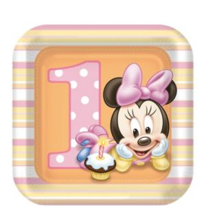 1st Birthday Minnie Mouse Dessert Plates 8ct