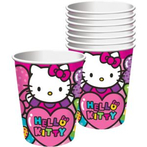 Rainbow Hello Kitty Cups 8ct
