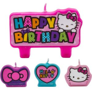 Rainbow Hello Kitty Birthday Candles 4ct