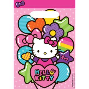Rainbow Hello Kitty Favor Bags 8ct