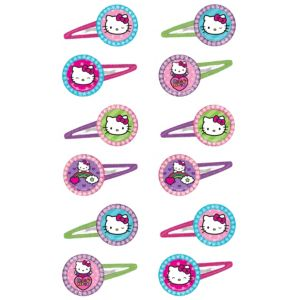 Rainbow Hello Kitty Hair Clips 12ct