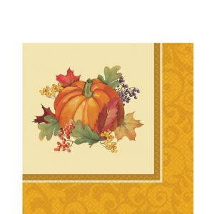 Bountiful Holiday Beverage Napkins 16ct