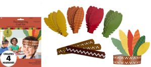 Feather Headdress Craft Kit for 4