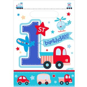 All Aboard 1st Birthday Favor Bags