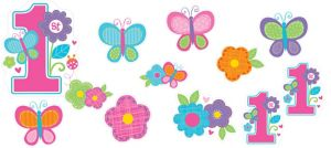 Sweet Girl 1st Birthday Cutouts 12pc