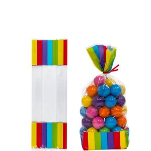 Rainbow Striped Treat Bags 10ct