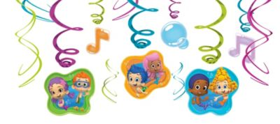 Bubble Guppies Swirl Decorations 12ct