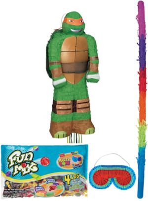 Pull String Michelangelo Teenage Mutant Ninja Turtles Pinata Kit