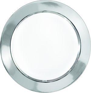 White Silver Border Premium Dinner Plates 8ct