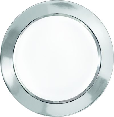 White Silver Border Premium Dinner Plates 8ct