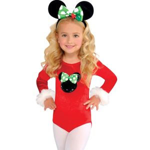 Child Holiday Minnie Mouse Bodysuit