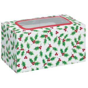 Holly Window Treat Boxes 2ct