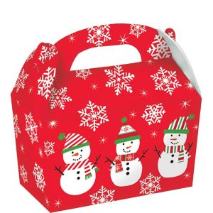 Holiday Snowman Treat Boxes 5ct
