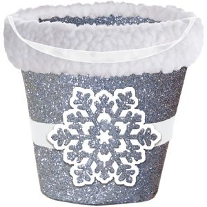 Glitter Snowflake Treat Bucket
