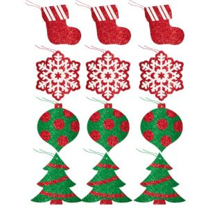 Glitter Classic Holiday Gift Tags 12ct