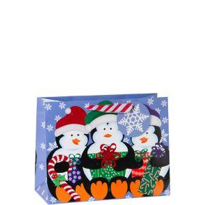 Snowy Penguins Christmas Gift Bag