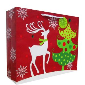 Contemporary Reindeer Christmas Gift Bag