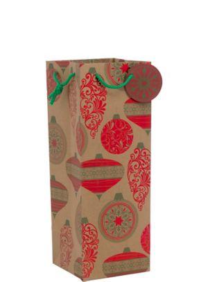 Christmas Ornament Bottle Bag